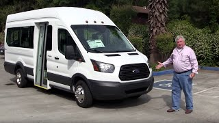 Ford Transit with Nor-Cal Vans Bus Door