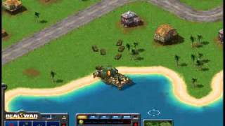 Real War: (Air-Land-Sea) 3D RTS PC Game. Sleeping Enemy mission.