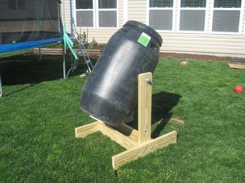How To Make Homemade Compost Tumbler From Pickle Barrel