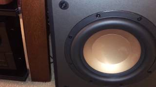 KLIPSCH RW-8 SUBWOOFER BASS TEST MAX EXCURSION SMALL BUT MIGHTY PART 1
