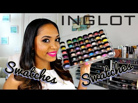 SWATCH FEST & REVIEW 💕 Inglot AMC Pure Pigment Eyeshadows & Body Pigments (50+ SHADES)