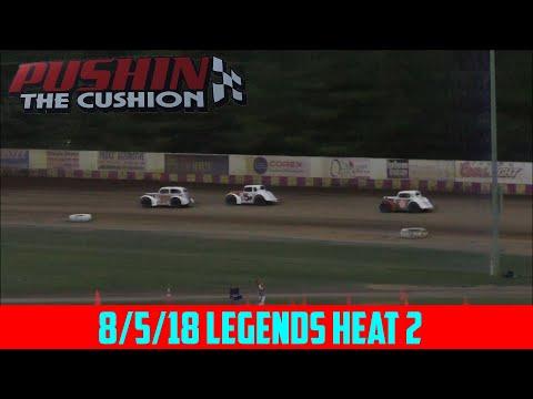 Angell Park Speedway - 8/5/18 - Legends - Heat 2