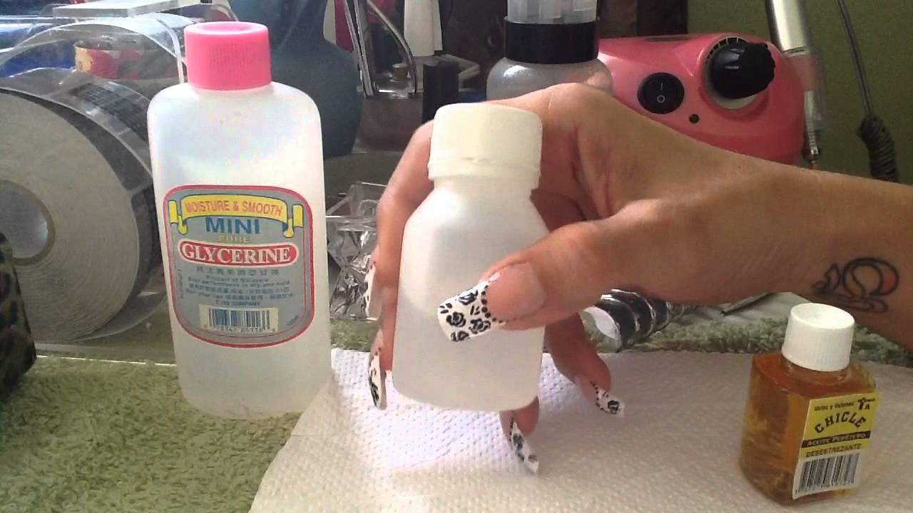 Gel Nails Limpiador Para Uñas De Gel Casero