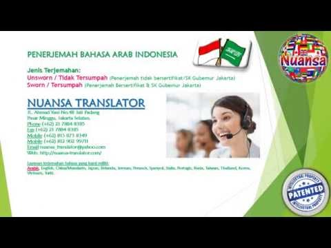 PENERJEMAH TERSUMPAH  BAHASA ARAB INDONESIA