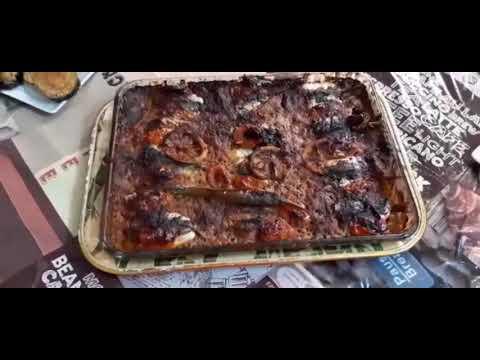 طجين سمك السردين فالفرن بحشوة البطاطا /البقولة باسهل واسرع طريقة