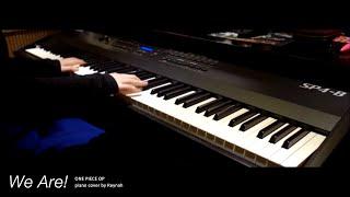 """원피스 One Piece OP : """"We Are!"""" Piano cover 피아노 커버"""