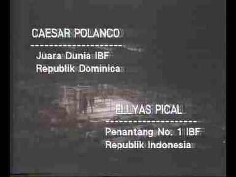 Pertandingan Tinju Ellyas Pical VS Caesar Polanco (TVRI)