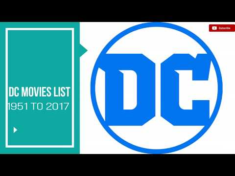 List of DC Movies | Best Films Based on DC Comics 1951 to 2017!!!!