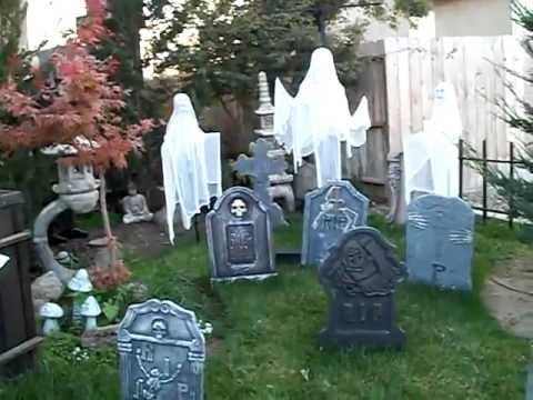halloween yard decorations 2011 - YouTube