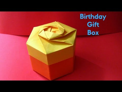 HOW TO MAKE UNIQUE GIFT BOX WITH PAPER | BIRTHDAY GIFT IDEAS
