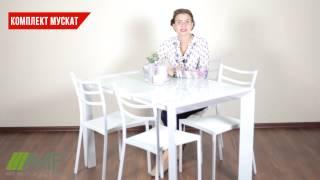 Комплект Мускат стол обеденный + 4 стула стула. Обзор обеденного комплекта для кухни от amf.com.ua