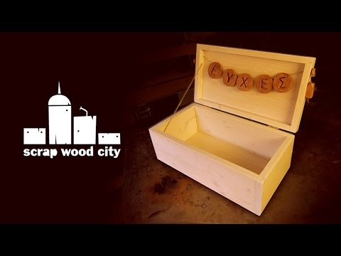 DIY wooden box for wedding wishes