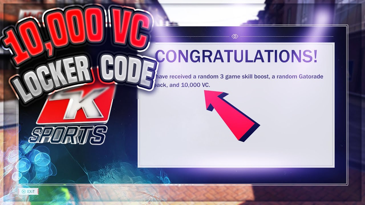Nba 2k18 10 000 Vc Locker Code Youtube