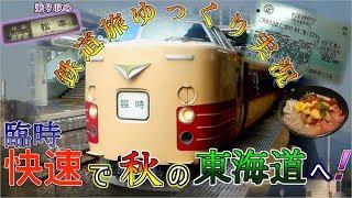 【鉄道旅ゆっくり実況】#8 臨時快速で秋の東海道へ!! ~休日お出かけパスの旅 前編~