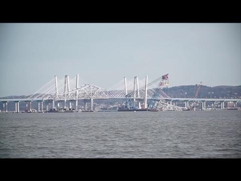LIVE: Watch New York's original Tappan Zee Bridge get demolished by explosives: