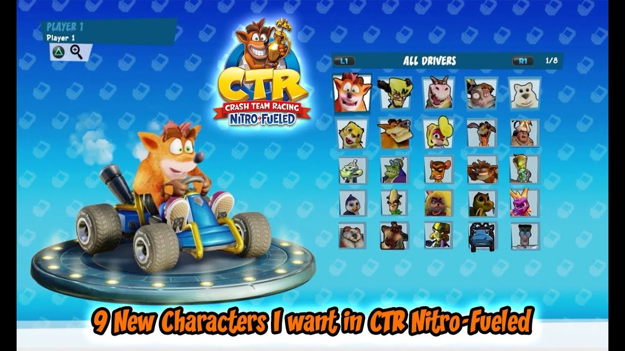 9 New Characters I want in Crash Team Racing Nitro-Fueled