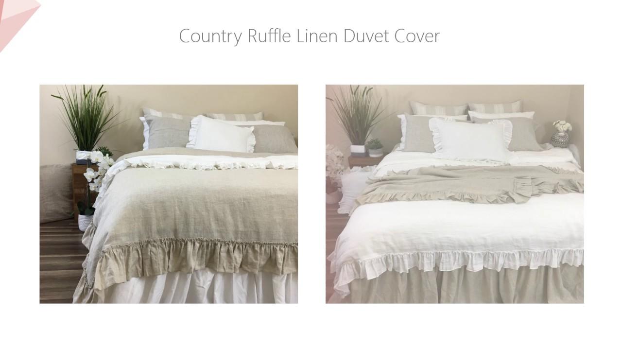 07 new items linen bedding duvet cover bed skirt shams and more
