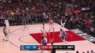 Enes Kanter All Game Actions 05/18/19 Warriors vs Blazers Game 3 Highlights