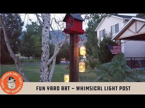 Fun Yard Art - Whimsical Light Post