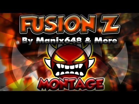 [MONTAGE] FUSION Z [EXTREME DEMON] by Manix648 & More - Geometry Dash | Pegasus GD
