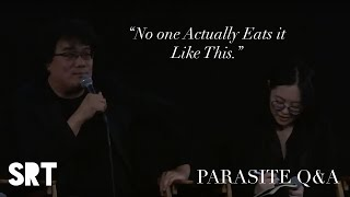 [Q&A]: Ramdon/Jjapguri Scene in PARASITE   Bong Joon-ho Retrospective