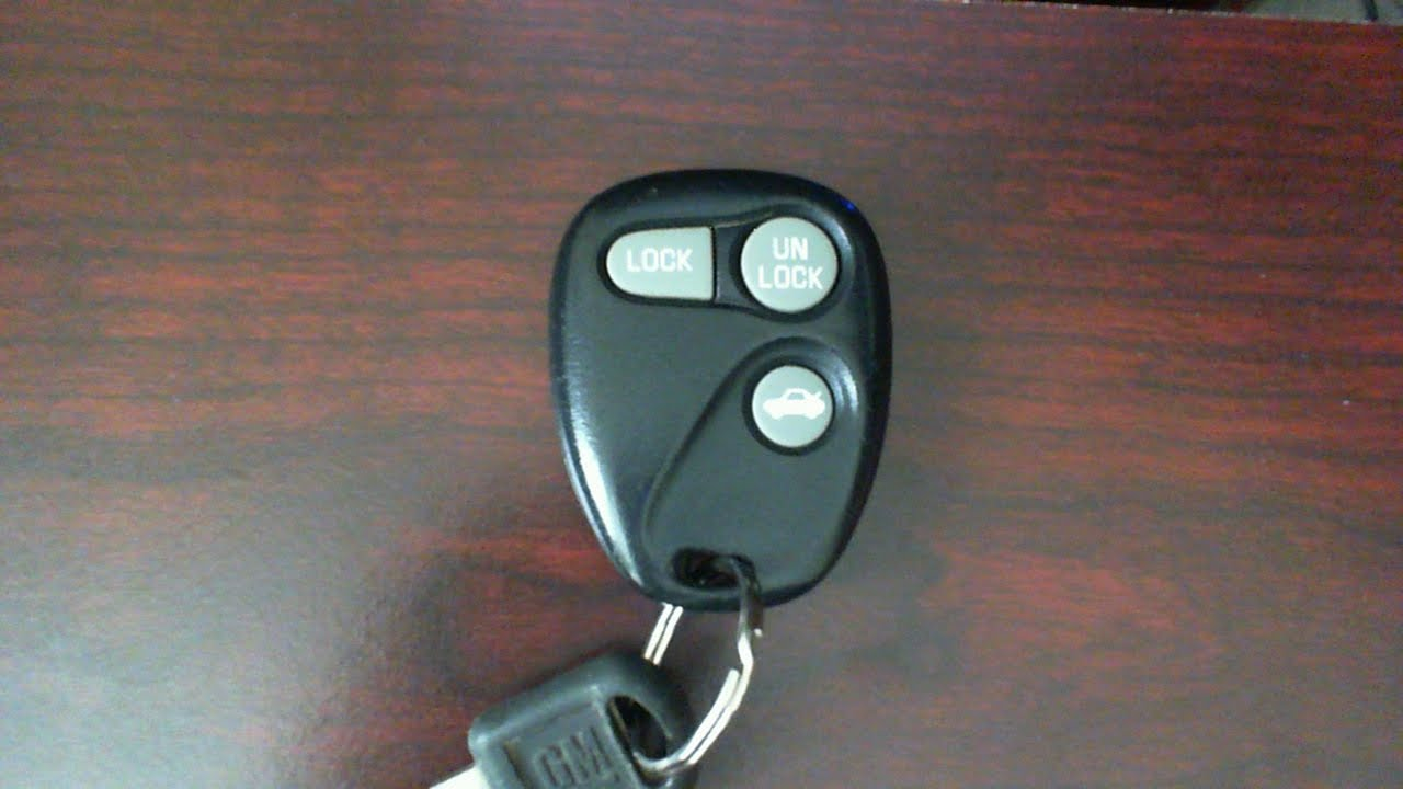 Gm Key Fob >> GM Pontiac Grand Prix Grand Am remote key fob battery change replacement - YouTube