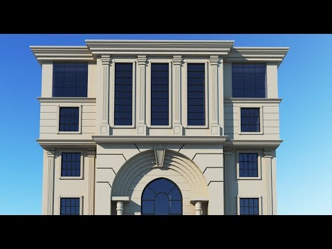 3ds MAX Exterior Modeling Training (Classical Facade Modeling Training)