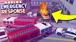 His Super Car Caught on Fire So I Had to Rescue Him! (Emergency Response Roblox)