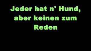 Peter Fox- Schwarz zu Blau (Lyrics on screen)