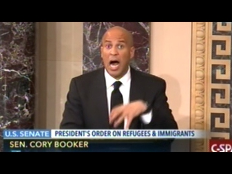 Senator Cory Booker Outraged At Trump Executive Order Banning Refugees