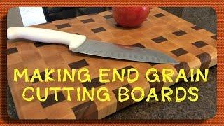 Making a Maple and Walnut End Grain Cutting Board
