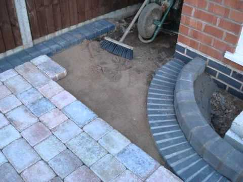 Building a driveway with Marshalls Tegula block paving ...