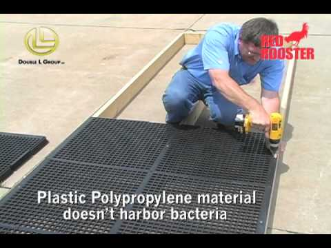 Red Rooster Poultry Floor Installation - YouTube