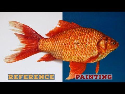 Goldfish Acrylic Painting | Fish Painting | Time Lapse | BornAdroit