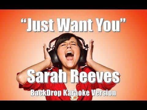 "Sarah Reeves ""Just Want You"" Backdrop Christian Karaoke"