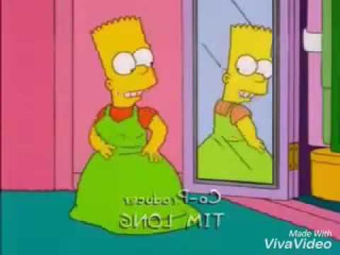 Bart vestido de mujer