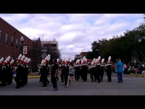 Caney creek High school Band Go Texan parade 2-20-16