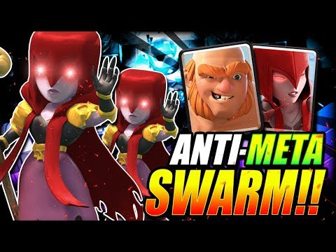 THIS NEW ANTI-META SWARM DECK is UNREAL!! GIANT WITCH OP!!