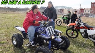 KID LEARNS HOW TO RIDE A BANSHEE 350 ? | BRAAP VLOGS