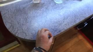 видео Стол криволинейный правый