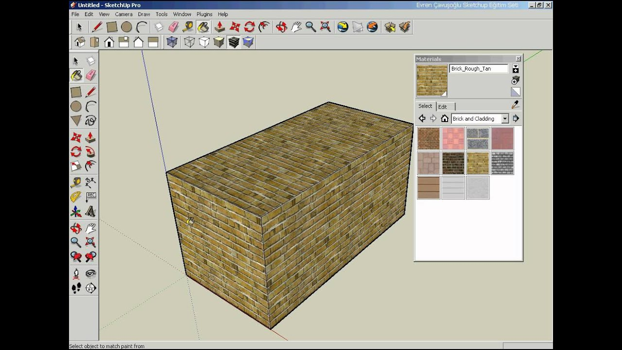 Summary -> Materials In Sketchup Enscape