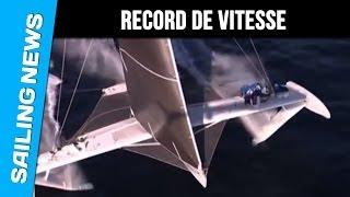 Hydroptère : record de vitesse à la voile ! le bateau vole