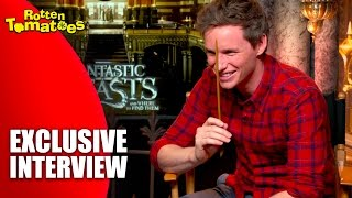 Eddie Redmayne Embraces His Wand - Exclusive 'Fantastic Beasts and Where to Find Them' Interview