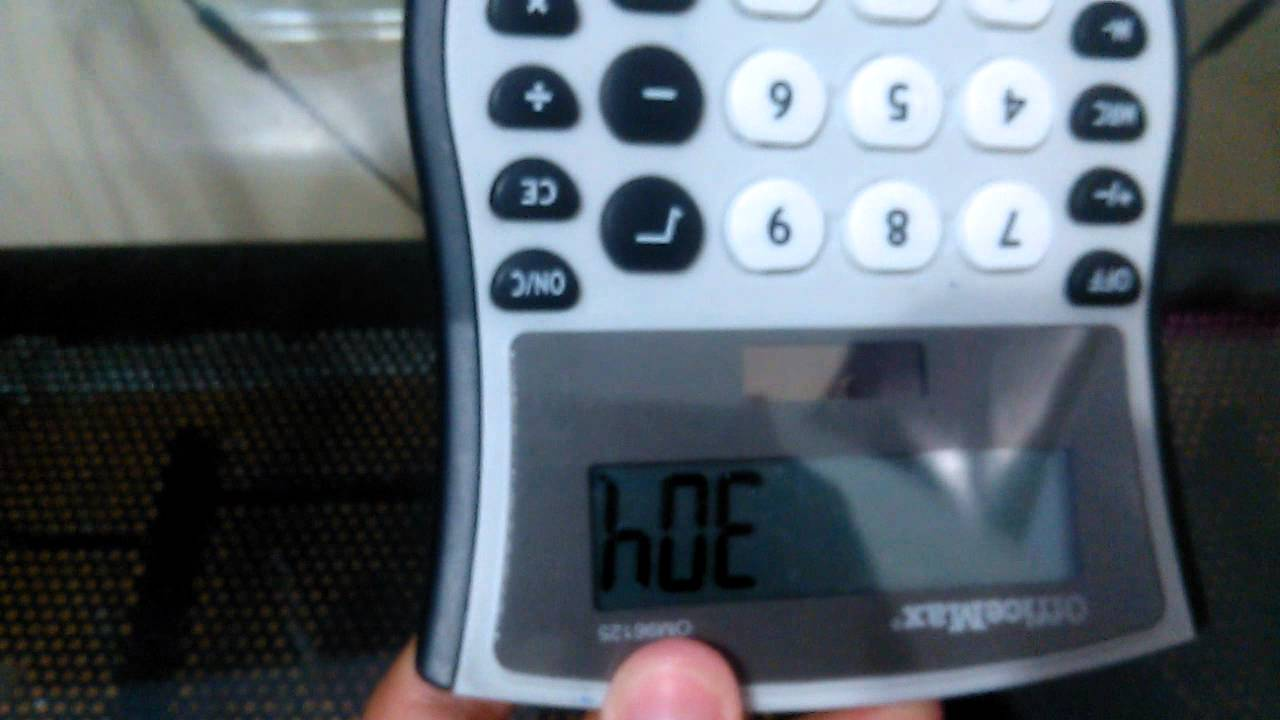 Funny/words for a calculator - YouTube
