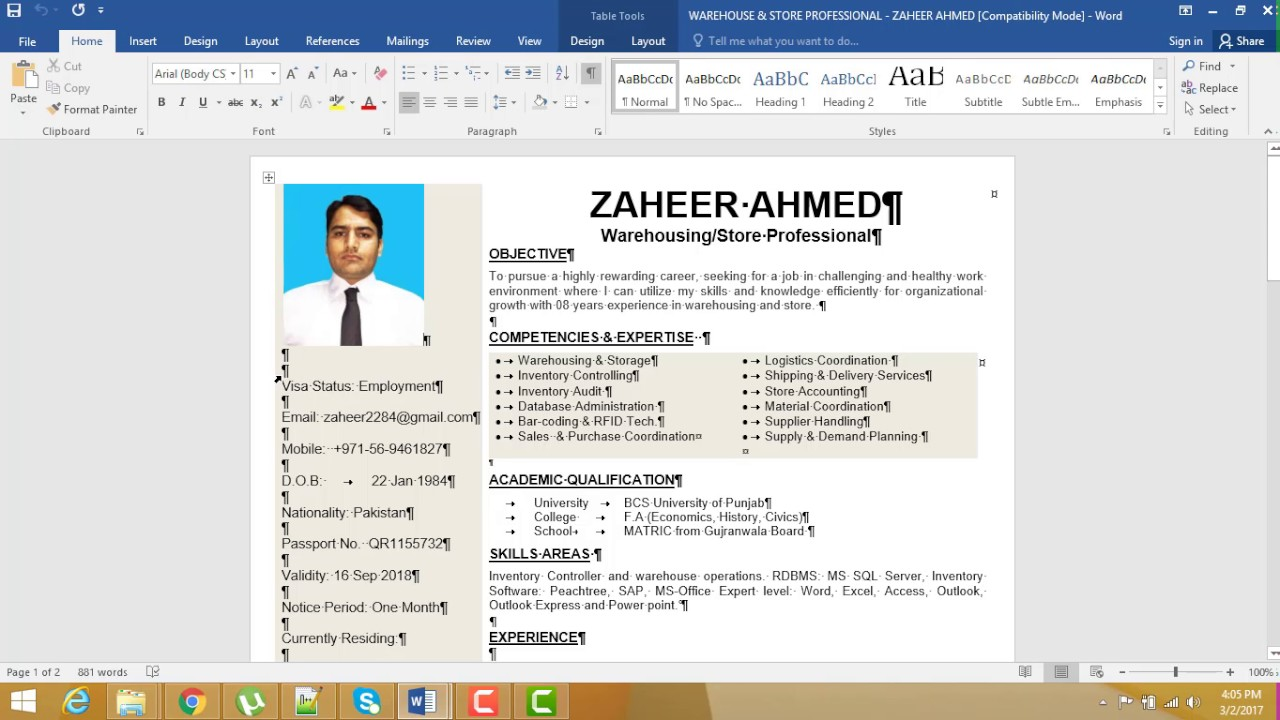 how to make cv or resume in hindiurdu part 2