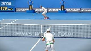 Tennis World Tour - Roger Federer vs Dominic Thiem - PC Gameplay