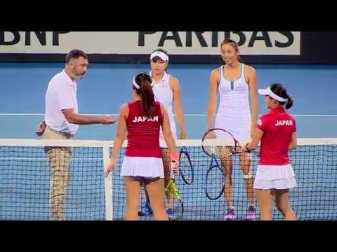 TENNIS Fed Cup Double women Aoyama&Hozumi (JPN) VS Chan&Chan (TPE) 06 02 59