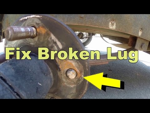 How To Replace Broken Lug Bolt In 5 Minutes
