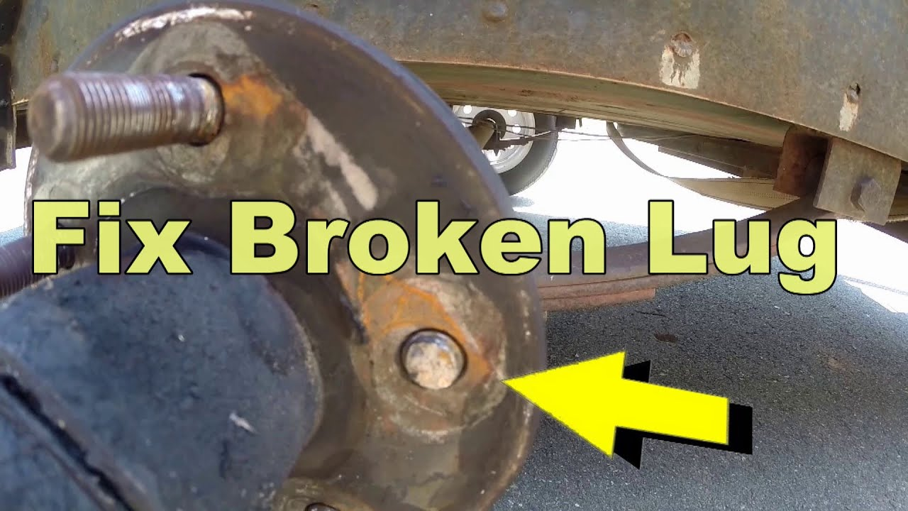 how to replace broken lug bolt in 5 minutes youtube. Black Bedroom Furniture Sets. Home Design Ideas