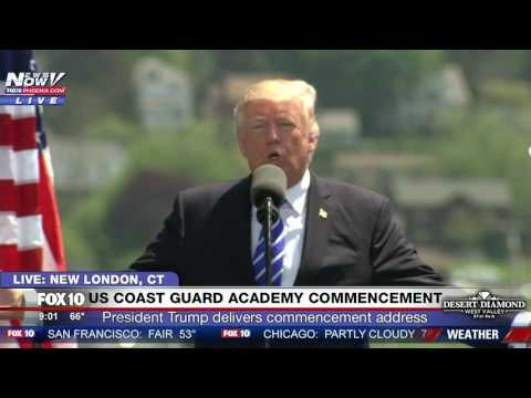 FNN: President Trump Delivers Commencement Address at U.S. Coast Guard Academy (FULL)